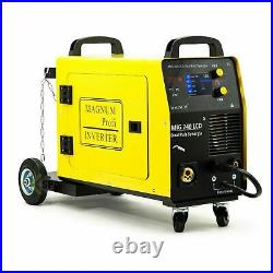 Magnum MIG/MAG TIG LCD DUAL PULSE SYNERGIE 3in1 Inverter Welder 200A 4x4 Feeder